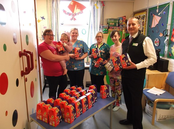 Young patients' eggstatic with Easter donations