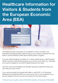 Helathcare Information For Visitors And Students From Europe