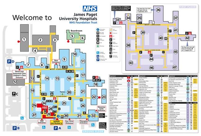 Map Of Arizona Hospitals.Map Of The Hospital